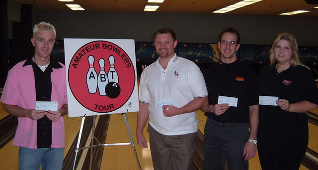 BONWOOD BOWL SCRATCH DIV. WINNERSNOV. 25-26, 2006(L to R) Chad Hall CHAMPION,Eddie Kesler 2nd, Steve Kloempken 3rd,Terry