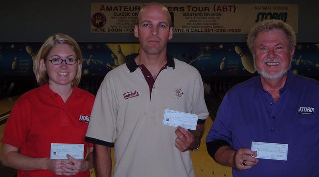 BONWOOD SCRATCH WINNERS 9-05-05 (L to R)Marcia Kamrowski 2nd,Martin Bedford CHAMPION,Jerry Meissner 3rd