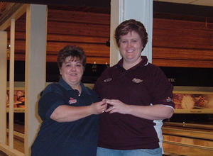 BECKY HUFFMAN RECEIVING HER 800 SERIES RING FROM JULIE MITCHELL DIRECTOR FEB. 21, 2010