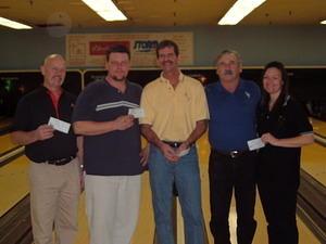 BONWOOD CLASSIC DIV. WINNERS January 29 & 30, 2005 (L to R) Kent Larsen 4th, Ben Eason 2nd, Stephen Chapman CHAMPION, Shel