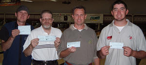 AMF HILLTOP - WINNERS September 17, 2005 (L to R) Chris Robinson 3rd, Randy Lindsey 2nd,  Kelly O'Driscoll CHAMPION, Danny U