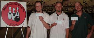 SOUTH COUNTY LANES TOURNAMENT WINNERS AUGUST 13, 2006 (L to R) Ryan Woodard CHAMPION, Nate Farmer 2nd, Paul Mullis, Jr. 3rd.