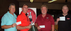 TOWN & COUNTRY LANES MASTERS DIV. WINNERSSEPT. 30 & OCT. 1, 2006(L to R) Maury Jacobs 4th,Jerry Winterholler 2nd, Jerry