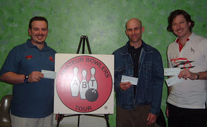 VALLEY LANES MASTER DIV. WINNERS FEB. 10 & 11, 2007 (L to R) Steven R. Anderson CHAMPION, Wyatt Wadley 2nd, Jeff Greenhalgh