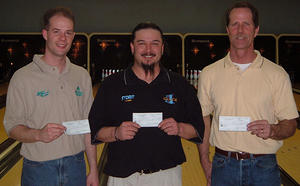 BONWOOD SCRATCH WINNERS 1-22-05(l to r)Chuck Groat 2nd, Nick Black CHAMPION, Lonnie Reed 3rd.